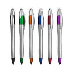 Stylus Toque de caneta LED com luz promocional com caneta de logotipo