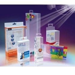 Logo personnalisé en PVC de luxe d'impression UV/Emballage en plastique transparent Pet Boîte avec prix d'usine