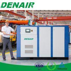 Low-Noise industrielle de l'huile d'alimentation CA à l'arrêt électrique lubrifiés entraînés directe haute pression moyenne Type à vis rotatif avec compresseur d'air de refroidissement air/eau
