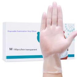 粉の自由で使い捨て可能な医学の産業等級の検査のビニールPVC手袋