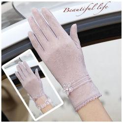 新しい方法女性女性の日焼け止めの手袋の女性の夏のレースの手袋