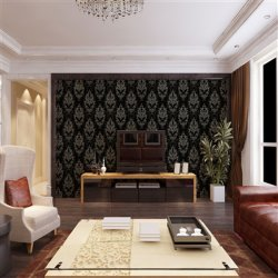 Groothandel Wallpapers2fwallcoating Goedkope Damask Vinyl Wallpaper Voor Home Decor