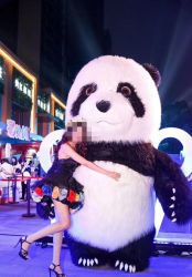 Warmer Bereich-Artefakt-Panda Cosplay/tragbarer Panda