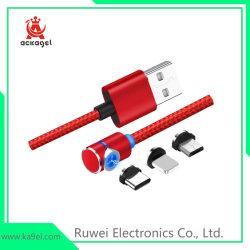 acessórios para telemóvel celular Cabo de telefone Magnético Telefone Trançada Cabo USB