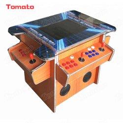 LCD 19 pouces cocktail de jeu d'arcade de table en bois pour le Club de la machine, bar, Café Chambre avec 4 joueurs
