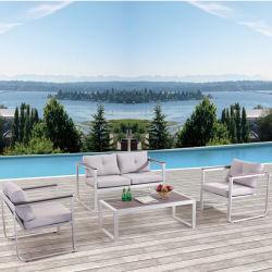 Muebles Modernos Hotel Mesa y Silla Leisure Home Jardín al Aire Libre Bacony Sofá Set
