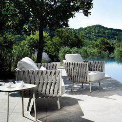 Китай последней для отдыхающих водонепроницаемый бистро терраса из веревки Hilton садовой мебелью из алюминия