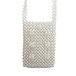 Nieuwe Retro Met de hand gemaakte Geparelde Parel Dame Handbag