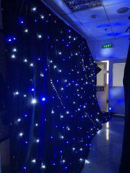 L'azzurro aggiunge la tenda che bianca della stella del LED il nero a prova di fuoco del velluto copre