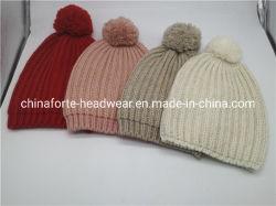 Women's Rib Pattern Golden Lurex Fashion tricoté Hat