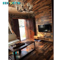 صلبة [فكتوري بريس] ريفيّ أسلوب جدار فنية خشب منشور لوح [3د] قرميد زخرفة منزل أرضية خشبيّة