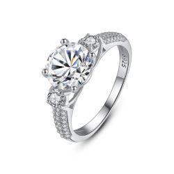 Nouvelle conception de bijoux de mode Real S925 Silver Wedding Ring