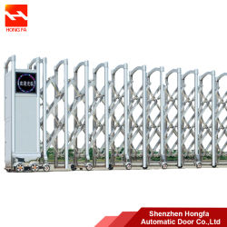 Elektrisch Automatisch Roestvrij staal die Vouwend de Poort van de Oprijlaan (HF-1010) glijden