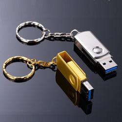 محرك أقراص USB محمول صغير الحجم قليل الدسم من الفولاذ المقاوم للصدأ تدور الأجسام المعدنية USB سعة القرص الفعلية 8 جم 16G 32 جم 64G
