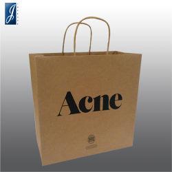 Cosmetic Natural mains de papier kraft pour sacs de magasinage et de promotion de l'emballage cadeau