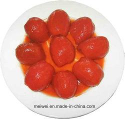 工場価格の缶詰にされた皮をむかれたトマト