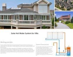 Druckloser Solar-Warmwasserbereiter mit flacher Platte Solar Collector 300L SS304 -2b Wassertanker und Aluminiumlegierung korrosionsbeständig Stützgestell