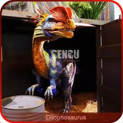 Modelo de dinosaurios del Jurásico Dilophosaurus escultura
