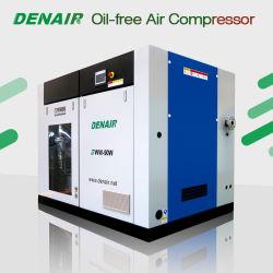 Industriais Fixas do tipo seco limpo 7-10Silenciosa bar Medical isento de óleo de accionamento directo alimentação AC Compressor de ar de parafuso rotativo com a GHH final de ar