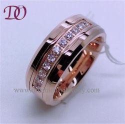 ローズの金のタングステンのリングの爪の設定のジルコンのTunsgtenのリング