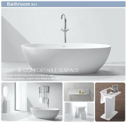 Baignoire ovale Hotel Use acrylique sanitaire Surface solide baignoire