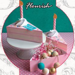 حلوة اللون طفل دش طفل عيد ميلاد الطفل هدية ورقة التغليف صندوق مع زينة شمعة وبطاقات تهنئة