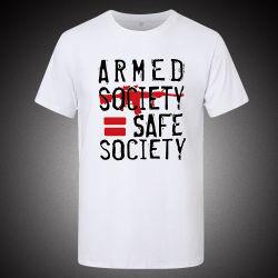 Kundenspezifisches normales rundes Stutzen-Drucken-Sport-Kurzschluss-Hülsen-Baumwollt-shirt für Mann
