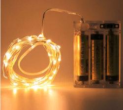 20개의 따뜻한 백색 LED Fairy Light 점멸
