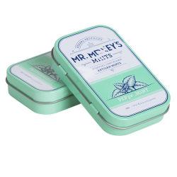 Impressão personalizada Gomas de mascar embalagem de metal pequeno dom Candy Estanho