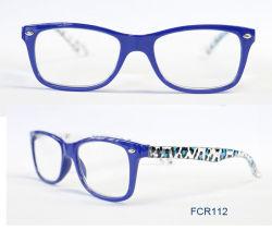 À la mode des lunettes de lecture de la conception d'injection Slim avec ressort de la charnière du FCR112