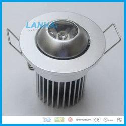 Алюминиевый потолочный фонарь направленного света 1 Вт лампа встраиваемый светодиодный затенения