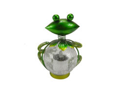 مبتكر ضفدعة شكل معدن أضواء حيوانيّ شمسيّ لأنّ حديقة زخرفة