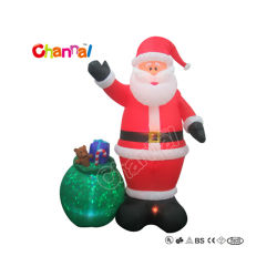 거대한 팽창식 산타와 선물, 크기 파티 장식 크리스마스 Chxs1507