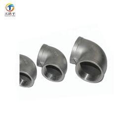 Gomito femminile dell'accoppiamento di compressione montaggio di tubo dell'accessorio per tubi da 90 gradi