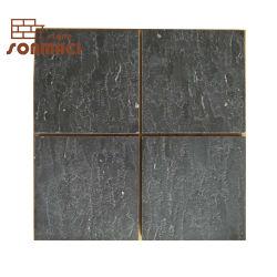 Schwarze Marmorsteinmosaik-Fußboden-Fliesen