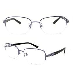 中国の方法半分の形のステンレス鋼の接眼レンズの女性の金属の光学フレーム(AK6002)