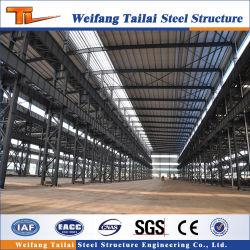 Niedrige Kosten-vorfabrizierter Stahlkonstruktion-Metallvorfabriziertrahmen mit Kran-Werkstatt-Aufbau-Gebäude