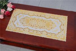 PVC en dentelle en vinyle Gold Placemat / Placemat avec dentelle d'or
