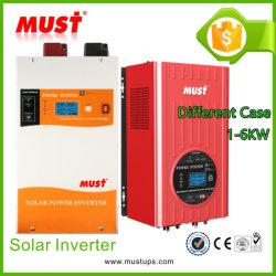 Низкая частота 30-60A MPPT внутрь 1-6квт солнечной гибридный инвертор