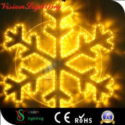Ornamento impermeável de Natal Luzes do floco de neve para pendurar