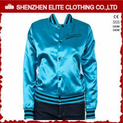 Плюс размер пользовательские вышивка Satin Varsity Куртки для женщин