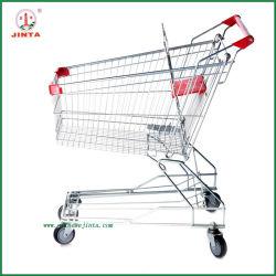 80L de zinc plaqué de chariot de supermarché de style asiatique