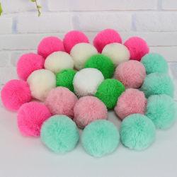 Comercio al por mayor de pieles de conejo colorido Pompom 4-5cm Fox Fur Ball Pom Pom Sombrero de invierno para la Mujer y la tapa