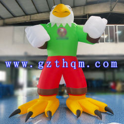 5m de altura de la publicidad hinchable Eagle personajes de dibujos animados American Eagle