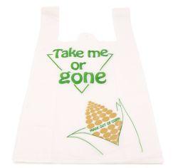 In het groot Fabrikanten 100% Biologisch afbreekbare Plastic het Winkelen MeeneemZakken van de T-shirt