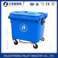 Дешевые 1100L 660L большой контейнер для мусора с колесами для продажи