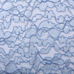 O algodão Yarn-Dyed Nylon Strand Two-Color Tecido Lace