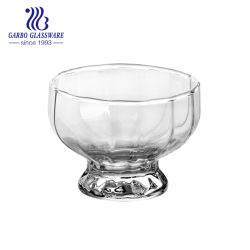 8 унции мороженого стеклянный сосуд фруктов льда десерт малых Кубок стеклянный сосуд воды для питья (ГБ061508)