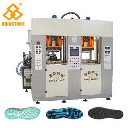 TPU/Tr/PVC/TPR 물자에 있는 단화 발바닥을 만들기를 위한 자동적인 정체되는 사출 성형 기계