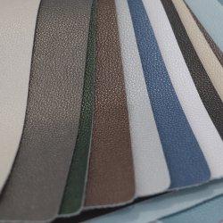 O PVC sintéticos artificiais de 0,8-1,5 mm de espessura de couro acabado Leechi Material para móveis
